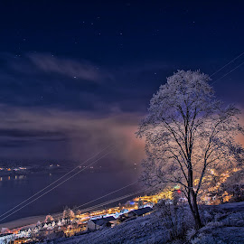 Voss by Knut Saglien - Landscapes Weather ( nightscape, vossevangen, long exposure, stars, gog, nightshoot )
