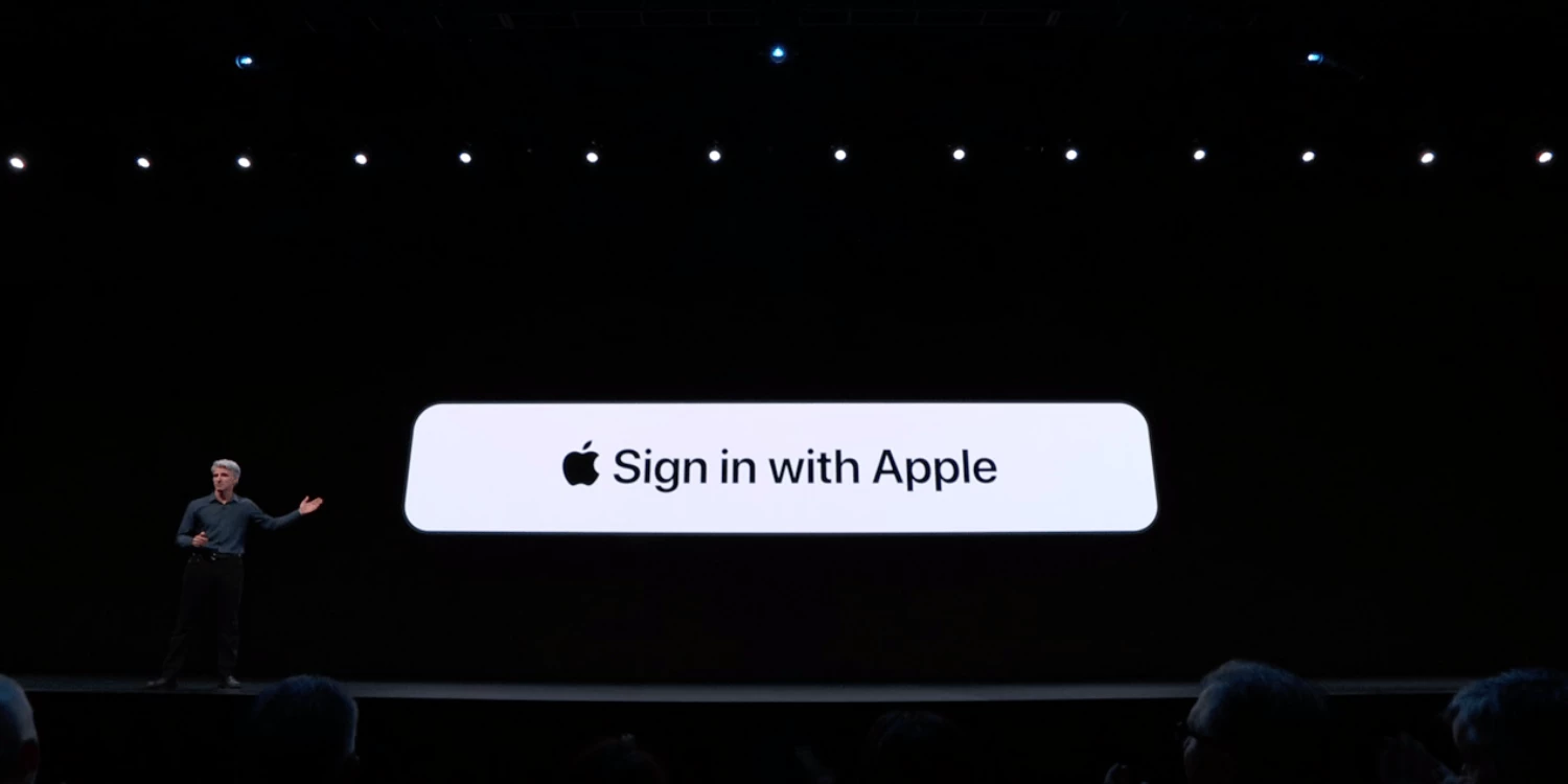 Apple sign in announcement during WWDC 2019