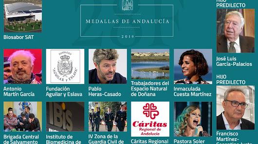 Cosentino, Hijo Predilecto y Biosabor, Medalla de Andalucía