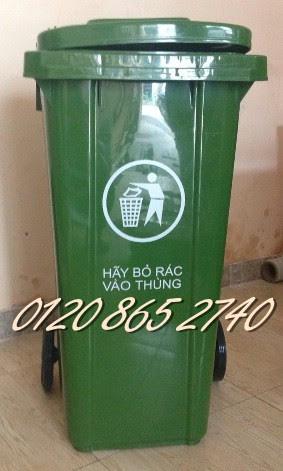 Bán thùng rác 120L, thùng rác nhựa 120L, thùng rác công nghiệp, , thùng rác 120