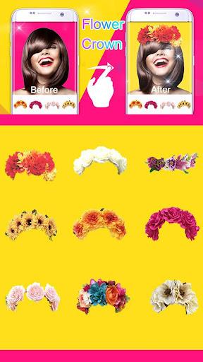 (FREE) FLOWER CROWN STICKER screenshot