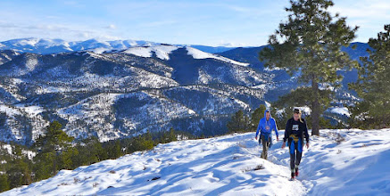 Photo: Mt. Helena on January 17 with Keith and Amy