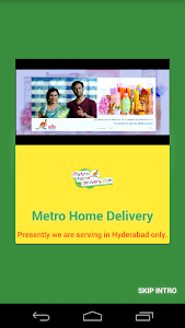 MetroHomeDelivery-OnlineGrocer screenshot 1