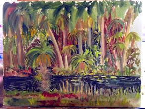 Photo: Painting by Danna Walsh / 1-30-14_At Riverbend Pk