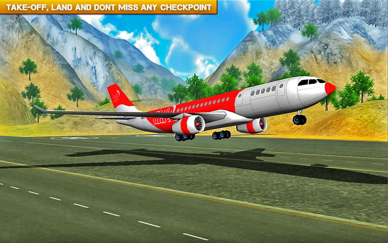 ✈️ Fly Real simulator jet Airplane games- screenshot