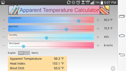 Apparent Temperature Calc
