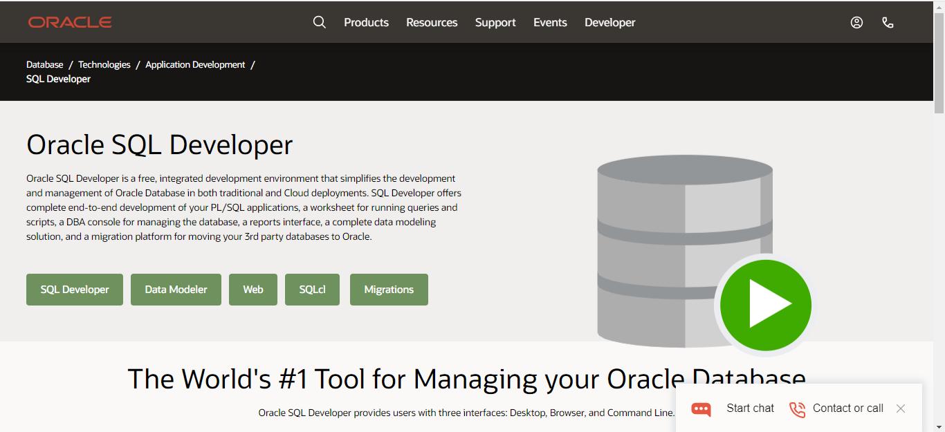 SQL Developer is a Database Management Software