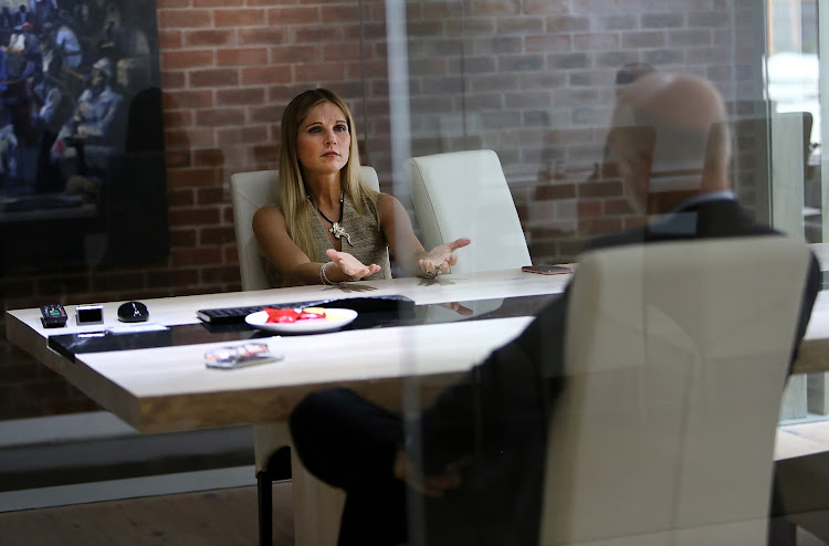 Sygnia Group CEO Magda Wierzycka during an interview at her office, in Sandton, Johannesburg. Picture: ALON SKUY