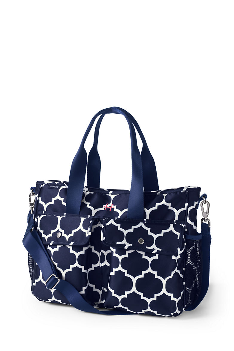 Carryall Print Diaper Bag