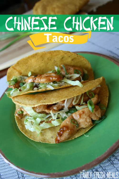Click Here for Recipe: Chinese Chicken Tacos