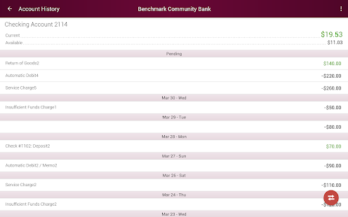 Benchmark Community Bank- screenshot thumbnail