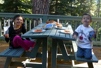 Photo: We had sandwiches on the picnic table