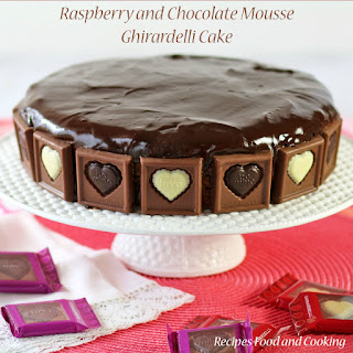 Raspberry and Chocolate Mousse Ghirardelli Cake