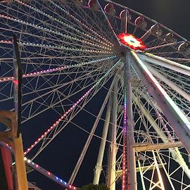 Amusement park in Vienna by Alesanko Rodriguez - City,  Street & Park  Amusement Parks ( urban, tourist, vienna, amusement park, colorful, summer, tourism, night, beauty, travel, austria )