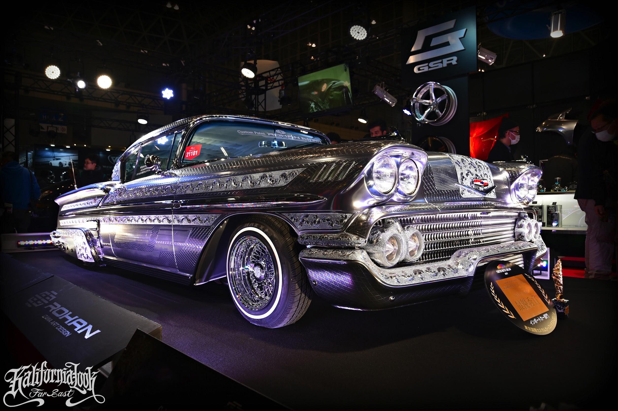 1958y Chevy Chromed Impala Lowrider Kalifornialook