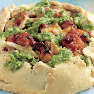Chicken Tart with Arugula Pesto