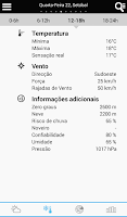 Screenshot of Weather for Portugal