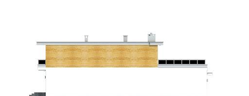 Long II z garażem 1-st. bliźniak A-BL2 - Elewacja lewa
