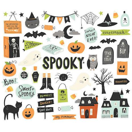 Simple Stories Bits & Pieces Die-Cuts 52/Pkg - Spooky Nights