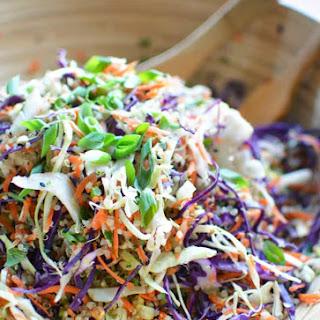 Asian Quinoa Slaw Salad with Sesame Ginger Vinaigrette.