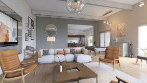 a beautiful and large living room