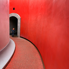 Child Play by Lee McLaughlin - Buildings & Architecture Public & Historical ( child, graphic, red, round room, convergence, kids, architecture, san francisco lee mclaughlin )