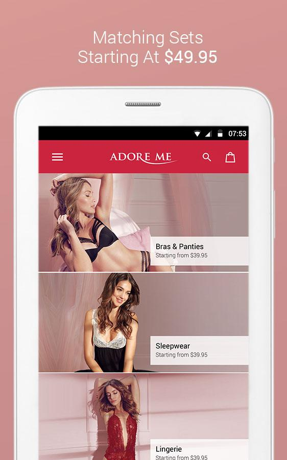 Experience Adore Me - Shop Designer Lingerie, a beautiful online lingerie shop app, anytime on your phone, where you can browse more than lingerie, cozy sleepwear at reasonable prices that will make you drop your jaws.