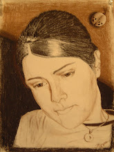 """Photo: """"Portrait of Alma"""" (Charcoal on paper)"""