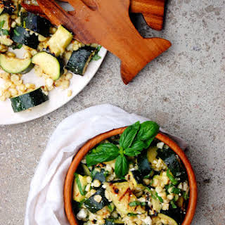 Grilled Zucchini and Corn Summer Salad.