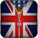 UK Flag Zipper Lock Screen icon