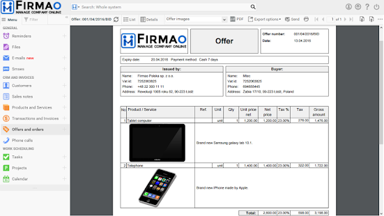 Firmao.net Mobile CRM- screenshot thumbnail