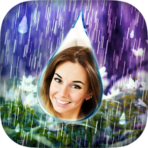 Photo Rain Drops Icon