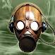 ガスマスクのフォトモンタージュ