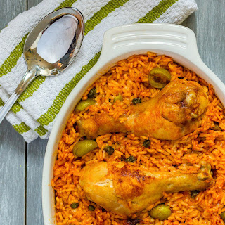 Arroz con Pollo (Puerto Rican Rice with Chicken).