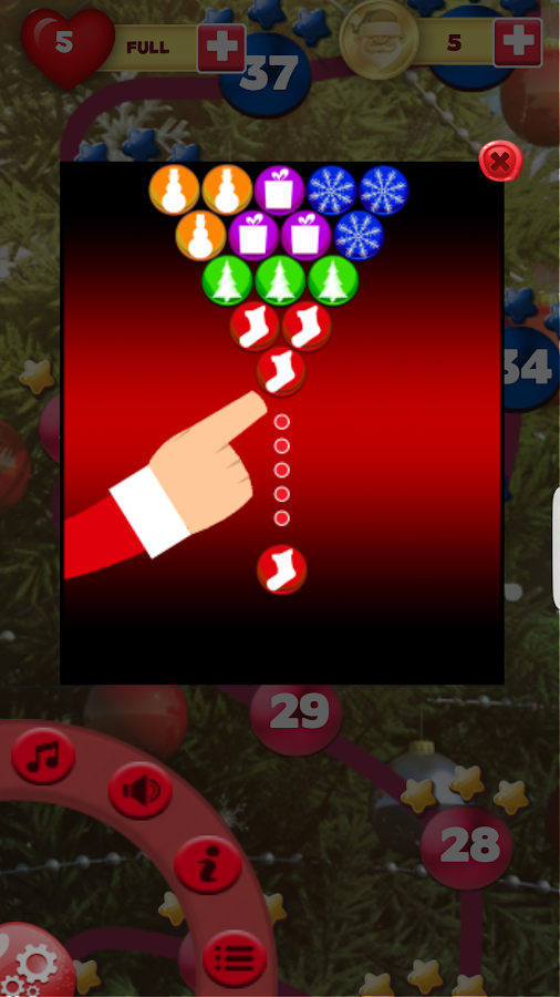 Save Santa Bubble Shooter!- screenshot