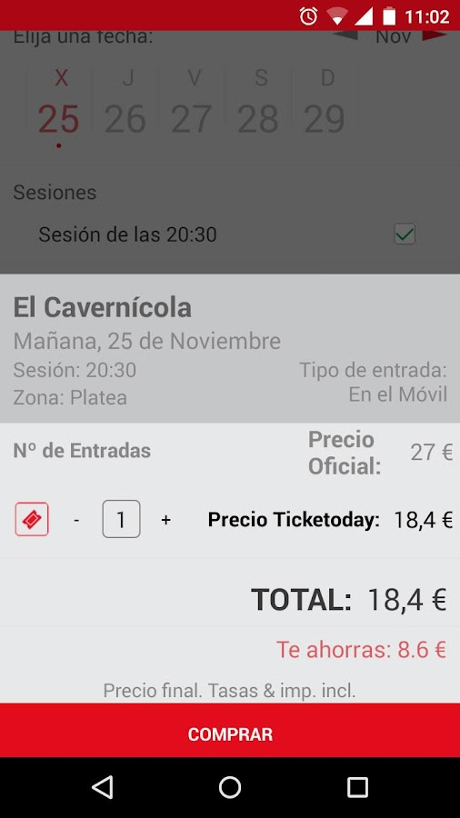 Ticketoday- screenshot