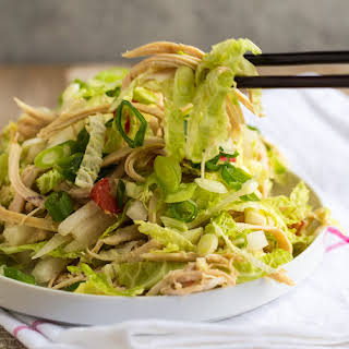 Shredded Chicken Salad with Asian Ginger Sauce.