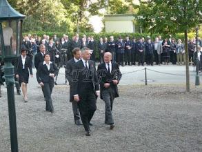 Photo: Duke Friedrich of Württemberg behind him Prince Constantin of Liechtenstein