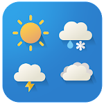 Cartoon cute weather Icon set Icon