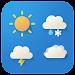 Cartoon cute weather Icon set icon