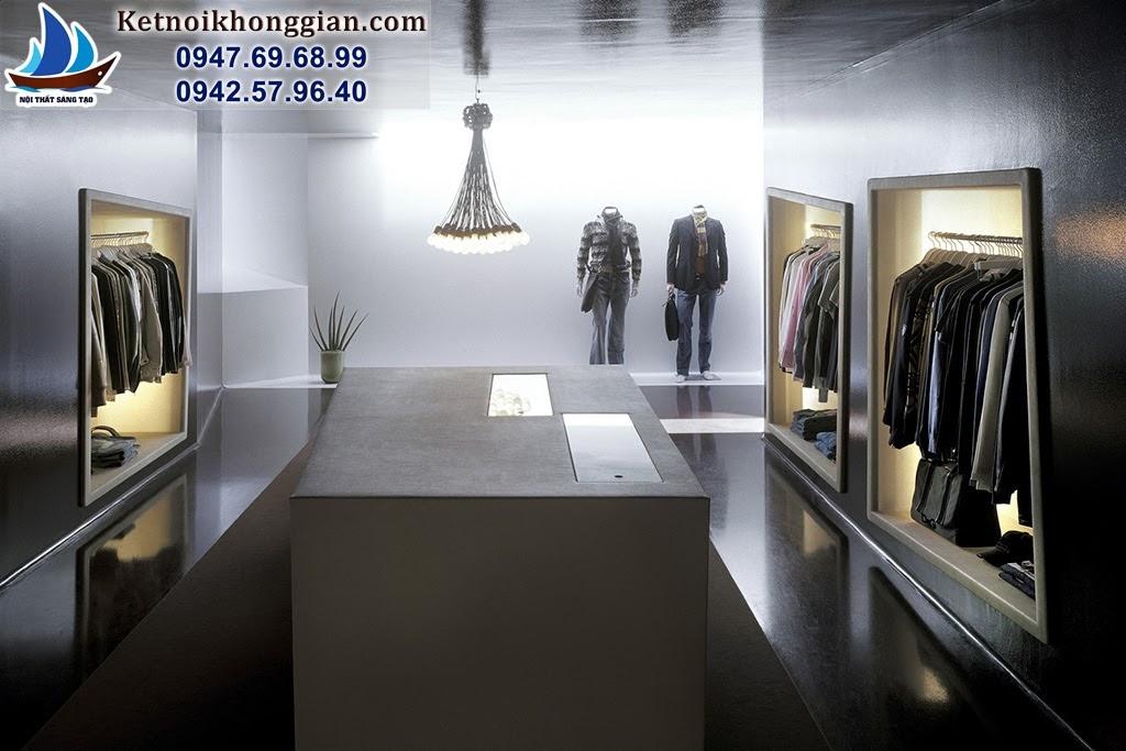 thiết kế cửa hàng thời trang nam đẳng cấp với nội thất cuốn hút