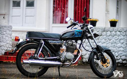 古典的なオートバイ