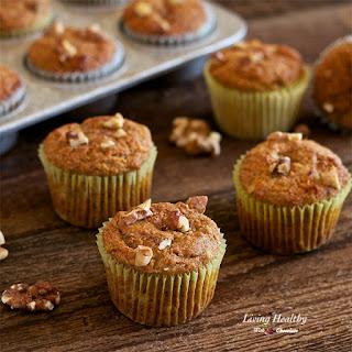 Banana-Walnut Breakfast Muffins (Paleo, gluten-free, grain-free, dairy-free).