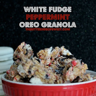 White Fudge Peppermint Oreo Granola