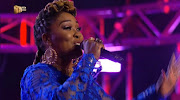 Lady Zamar was ripped to shreds for her blue jumpsuit on Sunday night.