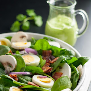 Classic Spinach Salad with Creamy Avocado Dressing