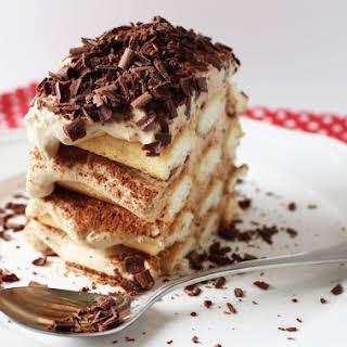 Chocolate, Coffee and Cream Tiramisu Cake.