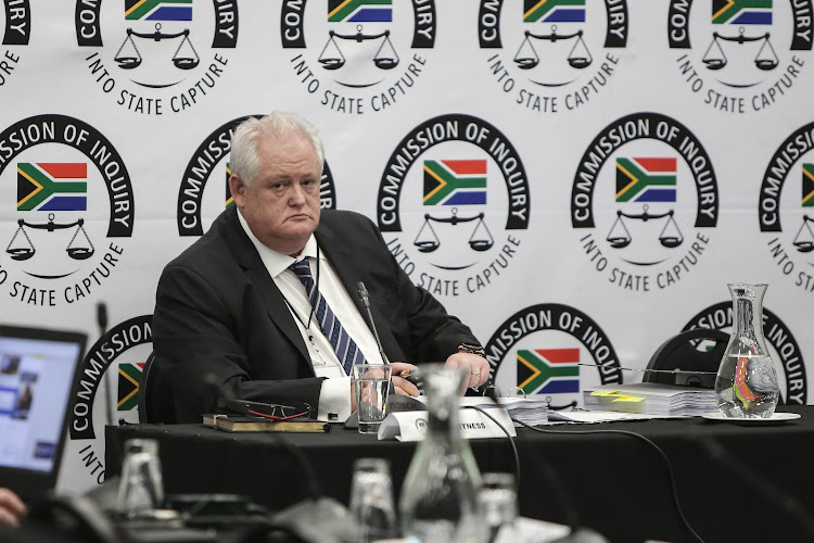 Former Bosasa chief operating officer Angelo Agrizzi delivering an explosive testimony at the state capture inquiry.