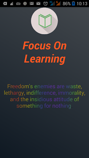 Stay Focused-Focus on Learning