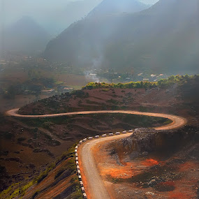 The road to the village by Phan Hien Bien Gioi - Landscapes Mountains & Hills